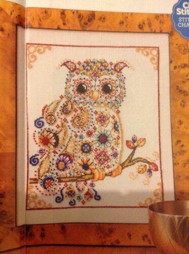e Fabulous plumas del grano con Dibujo de Búho de Shannon wasilieff cross stitch chart