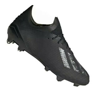 Adidas-X-19-1-Fg-M-EG7127-football-shoes-black-black-Silver-Size-9