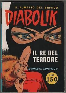 DIABOLIK N.1 IL RE DEL TERRORE semi anastatica 1999 collana SPIN OFF 1/99  MBP | eBay