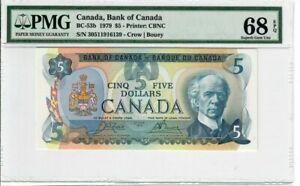 Canada-5-Dollars-Banknote-1979-BC-53b-PMG-Superb-GEM-UNC-68-EPQ