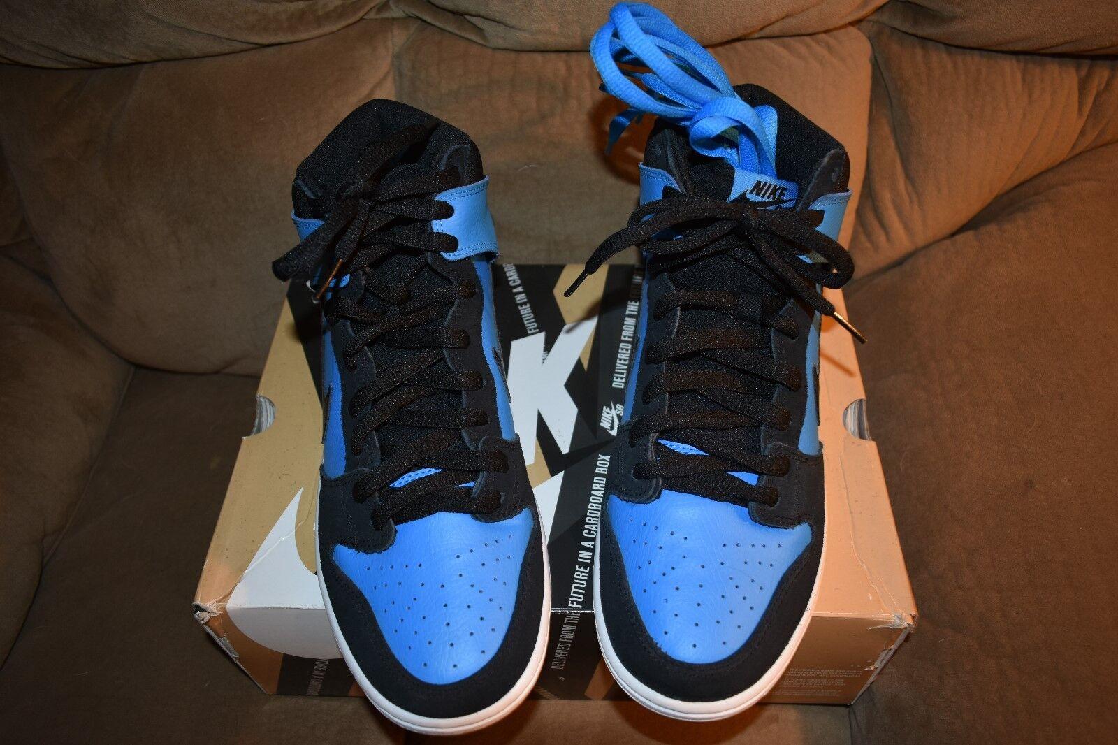 Nike DUNK HIGH PRO SB Blue Hero Black Gum Light Brn 305050-470 Men's 10.5