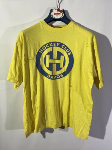Davos Hockey Vintage Autograph T Shirt