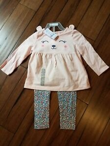 Carters Baby Girls CUTE 2 Piece Outfit Size 12 M BRAND NEW W TAGS