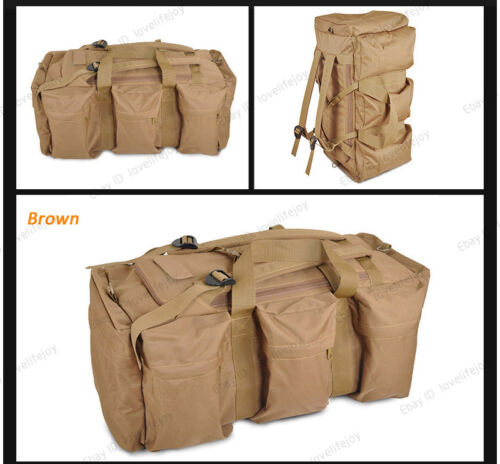 70+20L Large Outdoor Sports Backpack Travel Luggage Hand Bag Rucksack Duffle Bag