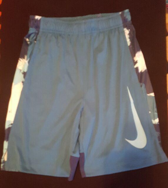 s Nike Dry Boys Dri-Fit Training Shorts Black White 850454 010