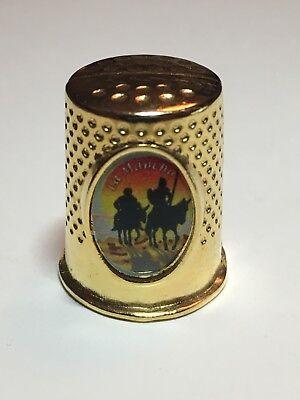 GemäßIgt Metall-fingerhut Souvenir La Mancha Thimble De A Coudre