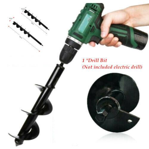 4 Styles Irrigating Spiral Drill Bit Hole Dig for Garden Auger Planting Seedling
