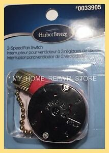 Us seller harbor breeze 3 speed ceiling fan pull chain 4 wire image is loading us seller harbor breeze 3 speed ceiling fan aloadofball Image collections