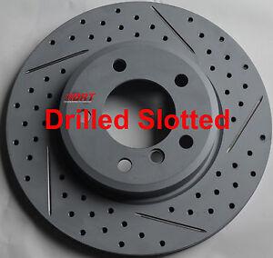 Fits-550i-GT-750Li-Drill-Slot-or-Slot-Brake-Rotors-Premium-Grade-Front-Pair