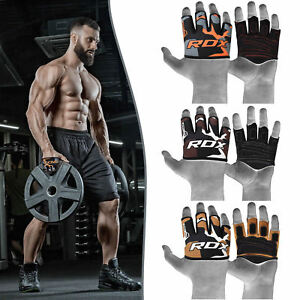 RDX Weight Lifting Grips Half Cut Gym Gloves Stretchy Sweat Wicking No-Slip Grip