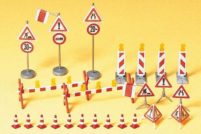 Preiser 17176 Ausstattungselemente Traffic Signs, Kit, H0