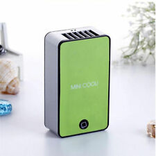 GREEN PORTABLE MINI AIR CONDITIONER FAN RECHARGEABLE BATTERY GIFT SUMMER