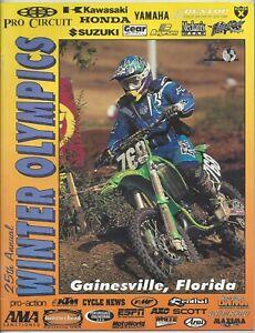 Vintage Winter Olympics Nationals 1997 AMA Motocross Program Travis Pestrana