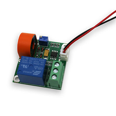 0-5A AC Current Sensor Module Detection Module Switch Output Working DC12V