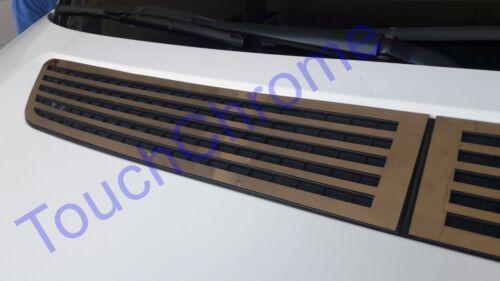 2006-2017 VW Crafter Cromo Campana De Ventilación Capó Recortar 2 un Acero Inoxidable De Acero