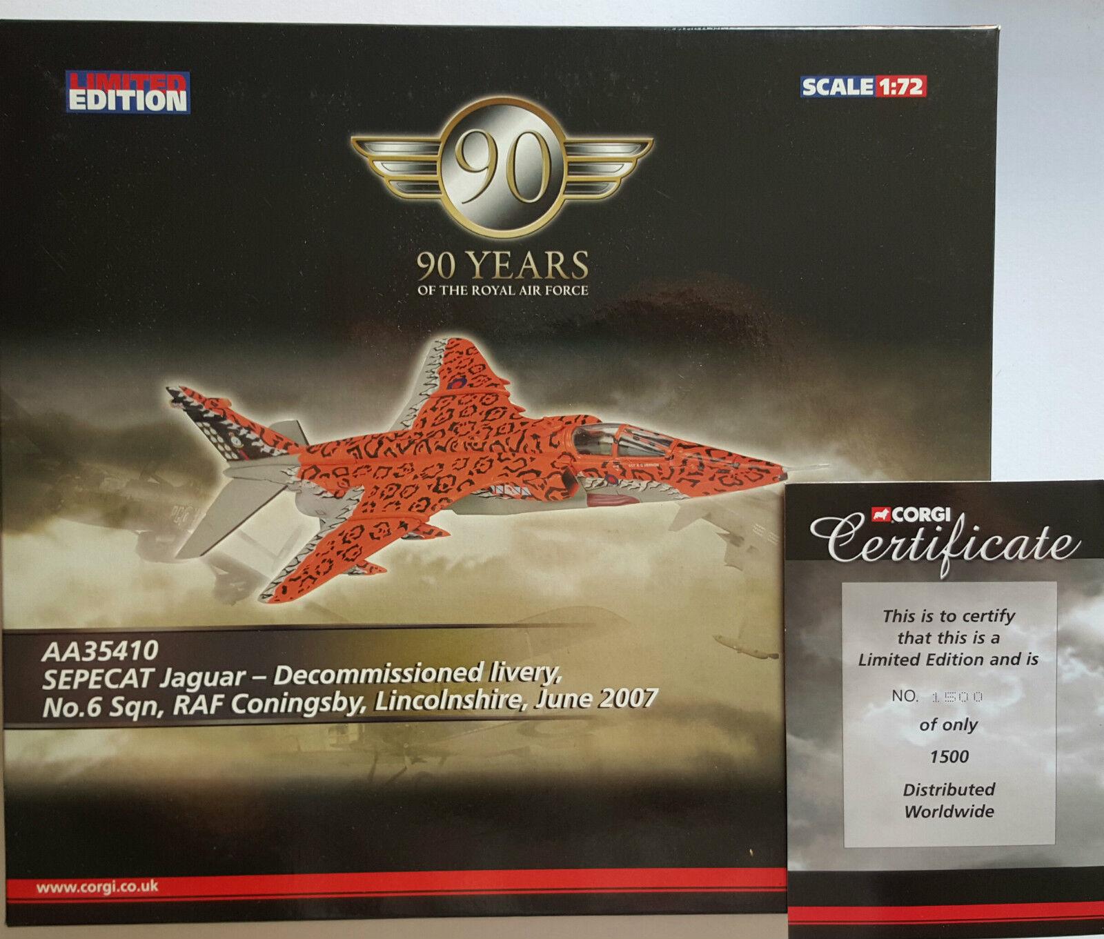 Corgi Aviation Sepecat Jaguar Decommissioned AA35410 Certificate No 1500 of 1500