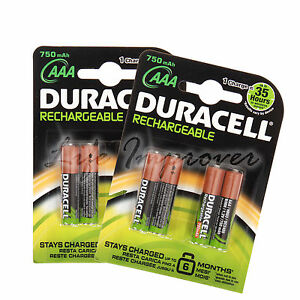 8 duracell aaa 750mah wiederaufladbare batterien accu lr6 hr6 dc1500 ebay. Black Bedroom Furniture Sets. Home Design Ideas