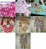 Girls Disney Minnie Mouse Or Daisy Duck Winter Pajamas Set 18m 2t 3t 4