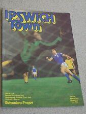 IPSWICH TOWN - BOHEMIANS PRAG Czechoslovakia UEFA-Cup Orig. Progr. 1980 Rarität
