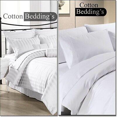 USA Complete Bedding Set - 1000TC Dark Grey 100/%EGYPTIAN COTTON Solid/&Striped