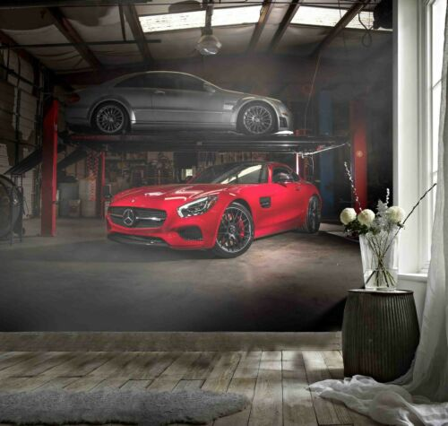 3D Car Workshop Wallpaper Wall Mural Removable Self-adhesive Sticker