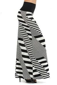 NEW  WOMEN'S DIFFERENT DIRECTION BASKET WEAVE STRIPED LONG FOLD OVER MAXI SKIRT