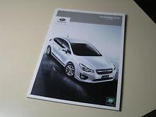 SUBARU IMPREZA Sport Japanese Brochure 2011/11 GP2 GP3 GP6 GP7 FB16 FB20