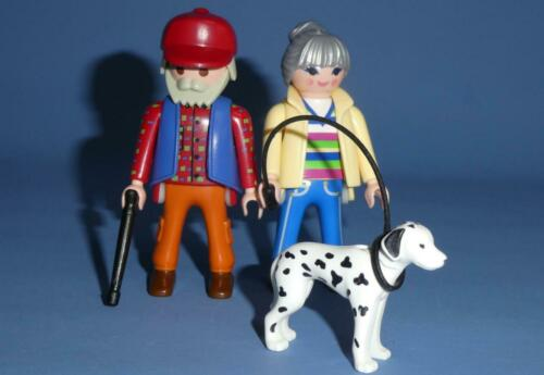 Elderly Couple Walking Stick /& Dog House City Life B Playmobil Grandparents