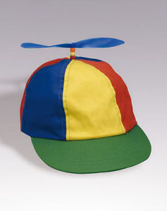 ADULT-PROPELLER-BEANIE-HAT-CLOWN-COSTUME-BASEBALL-COPTER-HELICOPTER-BALL-CAP