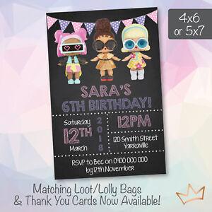 personalised lol surprise birthday invitations party invites ebay