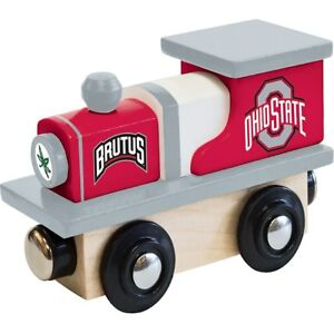 Details about Ohio State Buckeyes Wooden Toy Train Steam Engine  Masterpieces Inc OSU Brutus
