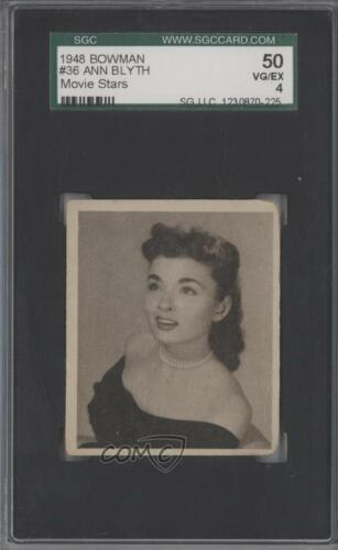 1948 Bowman Photoplay Stars #36 Ann Blyth SGC 50 VGEX 4 NonSports Card 0x5