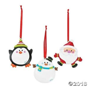 image is loading 3 personalized resin christmas ornaments snowman santa penguin