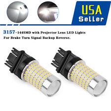 2X 3157 3156 144 SMD 2800 Lumens White Backup Reverse High Power LED Light Bulbs