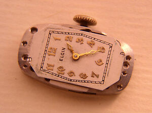 Elgin 15J 521 Movement Will Run, for parts or Restoration