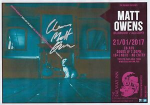 Matt Owens Urby from Noah amp The Whale  SIGNED Tour Poster 2017 - Thatcham, Berkshire, United Kingdom - Matt Owens Urby from Noah amp The Whale  SIGNED Tour Poster 2017 - Thatcham, Berkshire, United Kingdom