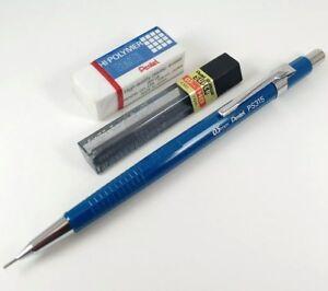 Image Is Loading Vintage Pentel Ps315 0 5mm Blue Mechanical