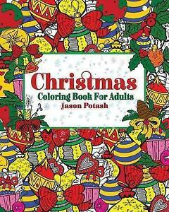 Christmas-Coloring-Book-for-Adults-Brand-New-Free-P-amp-P-in-the-UK