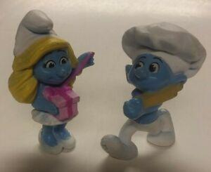 2 Smurfs Mcdonalds Toys Set Lot Figures Toys Smurfette Baker Smurf Used Ebay