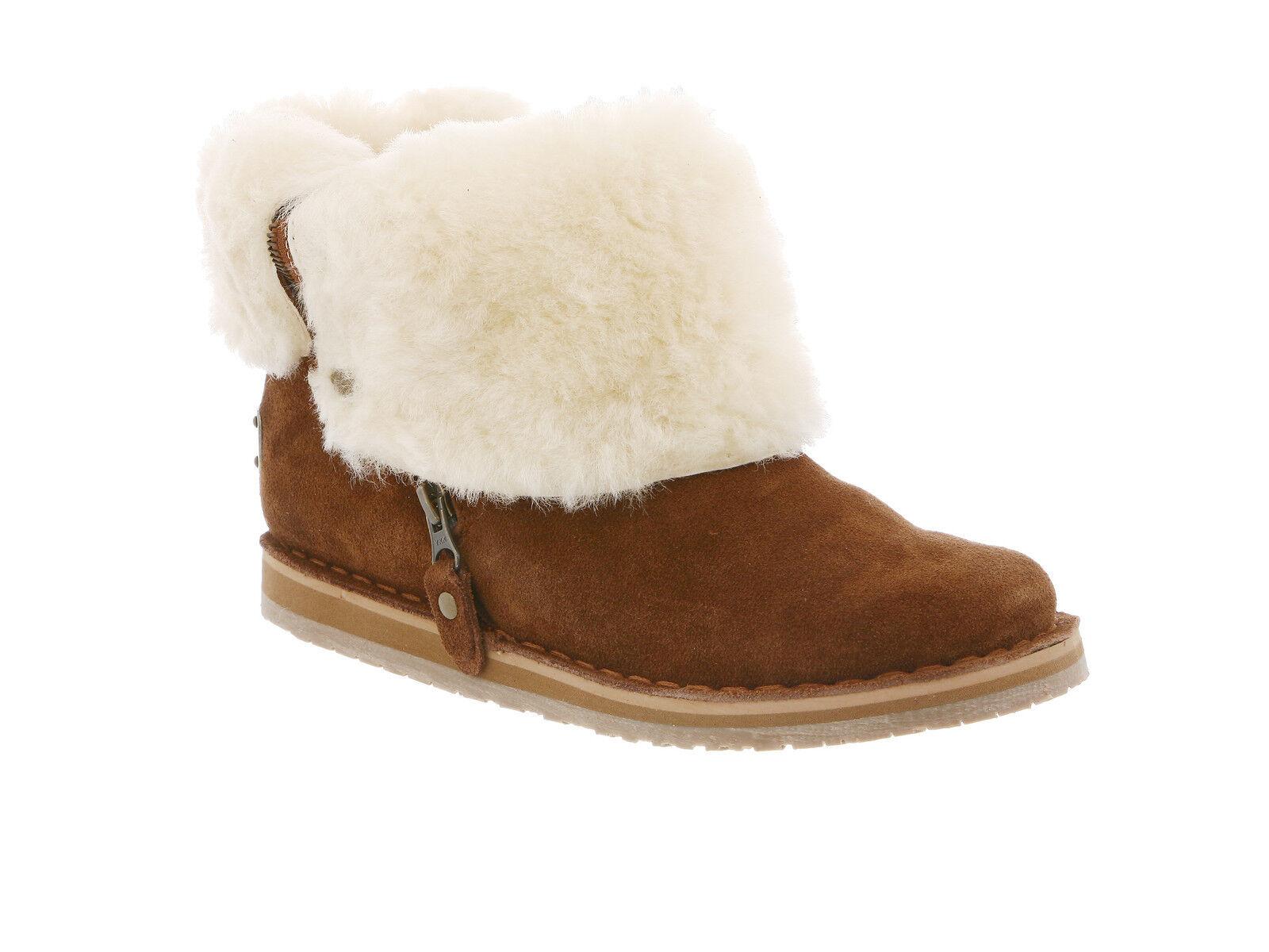 Rj's Fuzzies Genuine Sheepskin Trixie Stiefel Chestnut Größes Medium (M, B)
