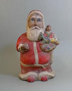 Folk Art Hand Carved Santa