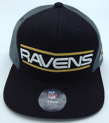 Lovely Nfl Baltimore Ravens Adidas Youth Snap Back Cap Hat Beanie New Sporting Goods