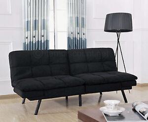 Memory Foam Split Futon Folding Couch Sofa Adjustable Arm Rest Convertible Bed