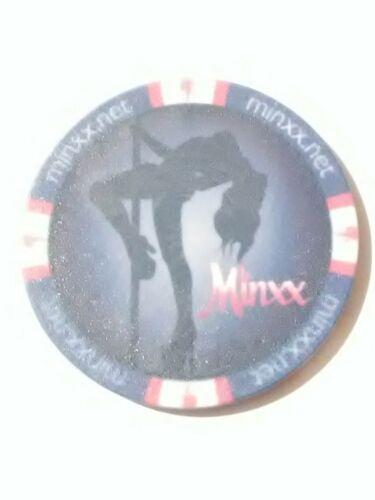 NEVADA VINTAGE VAULT STRIPPER CHIP! MINXX GENTLEMAN/'S CLUB /& LOUNGE LAS VEGAS