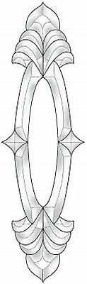 Stained Glass Supplies Open Center Bevel Cluster EC595 - 6 1/4 x 20 1/2 Inches