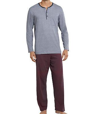 Selfless Schiesser Herren Schlafanzug Lang Baumwolle Single Jersey Langgröße Neu Elegant In Style Sleepwear & Robes