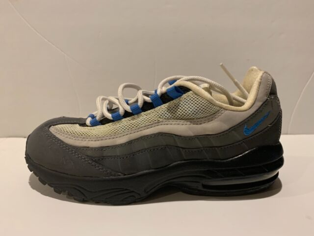 Nike Air Max 95 White black GreyBlue Size 3y left side amputee only boys