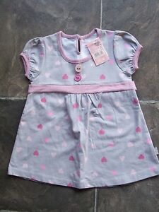 BNWT-Girl-039-s-Pumpkin-Patch-Grey-amp-Pink-Summer-Dress-Size-2