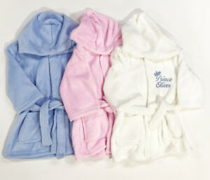 50e164f17 Embroidered Personalised Baby Bath Robe Dressing Gown Boy Girl Gift ...