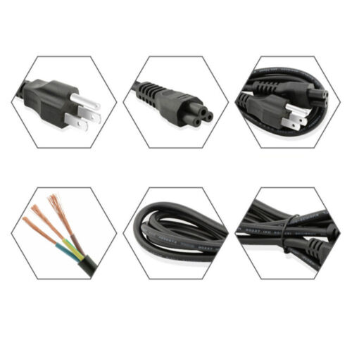 5ft AC Adapter Power Cord Cable Charger for COMPAQ 3-WIRE 213349-001 3-prong
